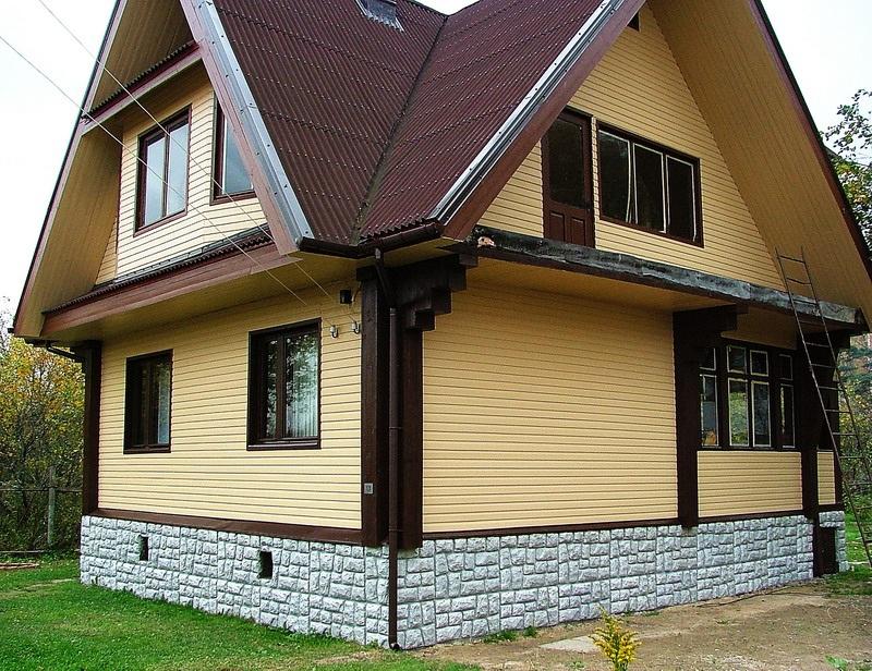 Дизайн отделки домов сайдингом