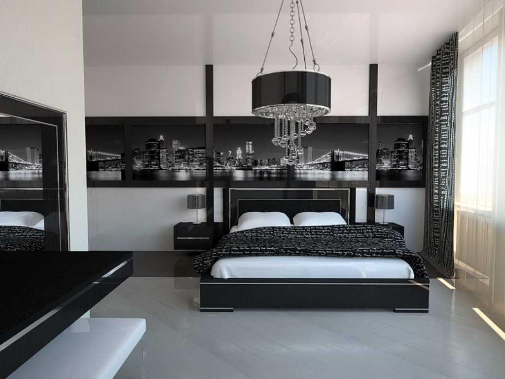 Хай-тэк спальня