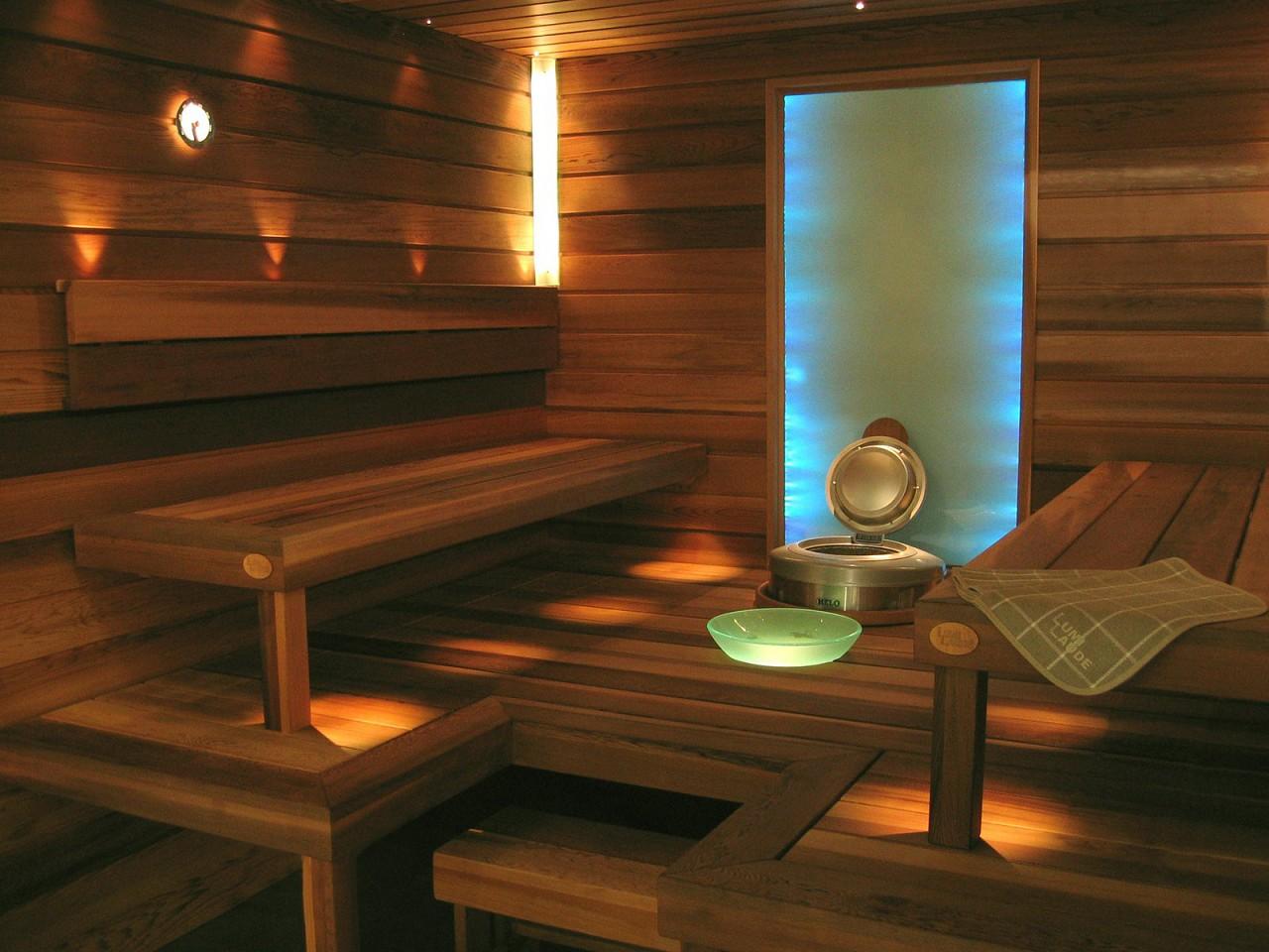 стены в бане из кедра