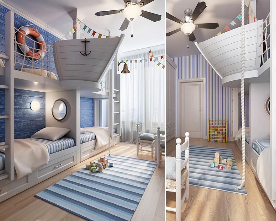 дизайн интерьера в морском стиле