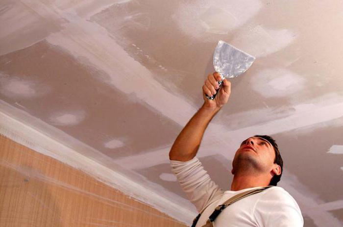 Шпаклевка потолка своими руками под покраску.