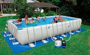 большой каркасный бассейн