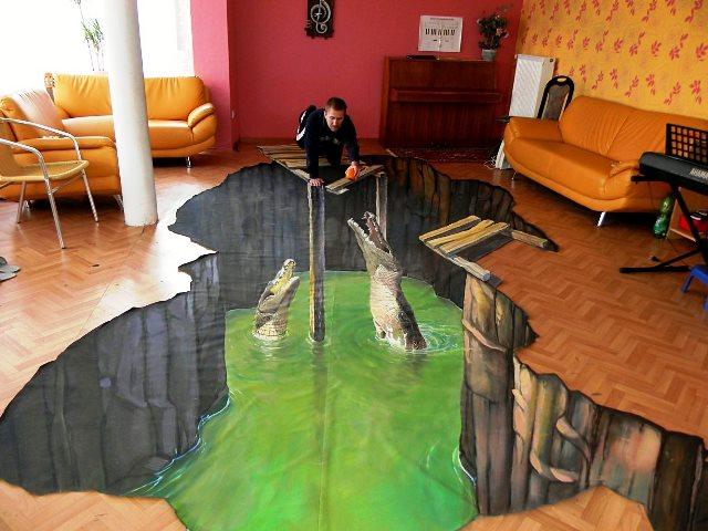Заливные полы с 3D – эффектом