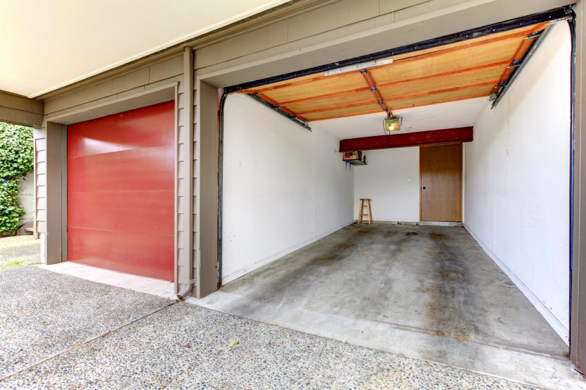 фото гаражей в частных домах внутри глаза