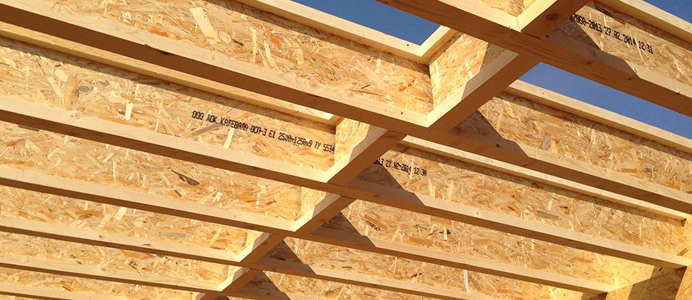 перекрытие из деревянных двутавровых балок
