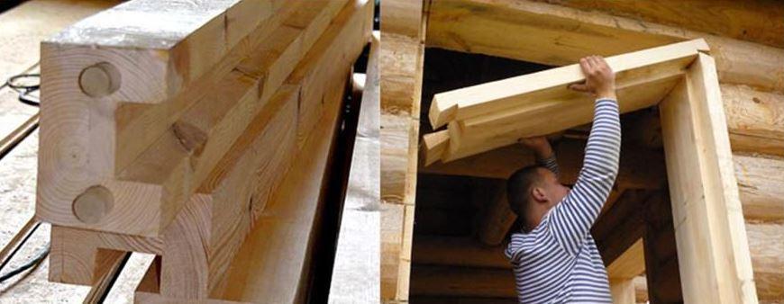 Окосячка дверей и окон своими руками в брусовом деревянном доме