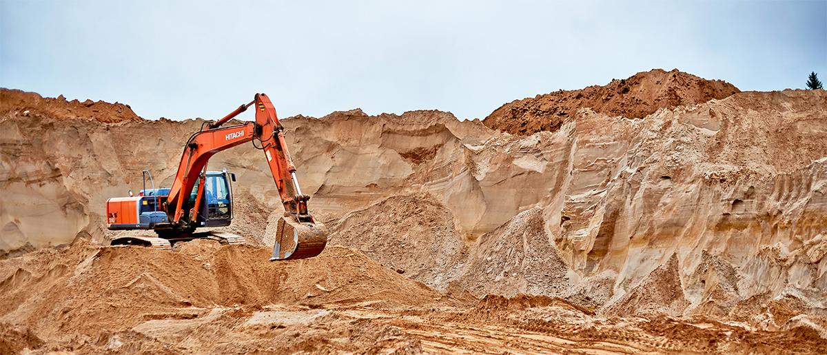 песок в карьере