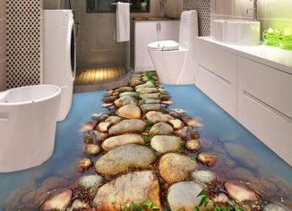 3-д пол в ванной