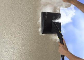 снятие краски с бетона термо способом