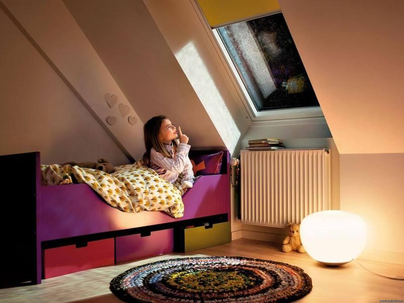 мансарда, комната для детей