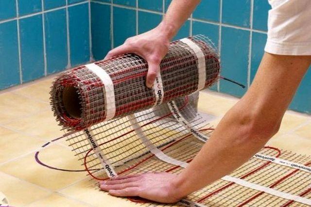 Теплый пол электрический в ванной своими руками