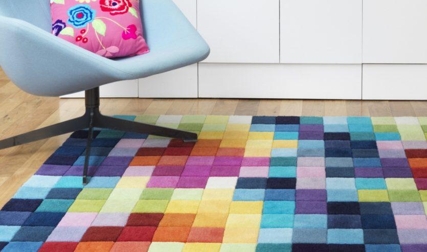 разноцветный ковролин