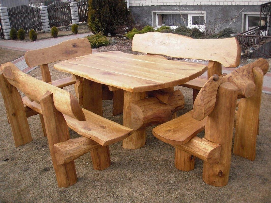 Мебель для дачи своими руками из брёвен