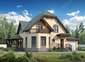 дом из сип панели